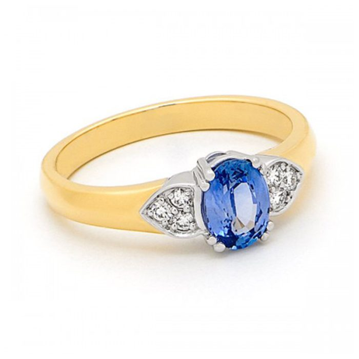 Blue Sapphire Ring 2